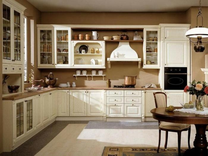wandgestaltung wandfarbe farbgestaltung küche braun