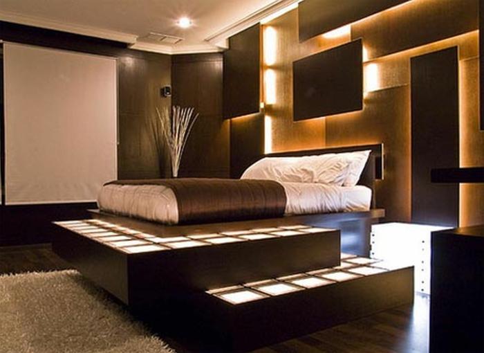 wandgestaltung wandfarbe farbgestaltung schlafzimmer dreidimensionell