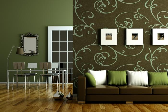 wandgestaltung schlafzimmer braun wandgestaltung wandfarbe farbgestaltung schlafzimmer pistazien - Wandgestaltung Schlafzimmer Braun