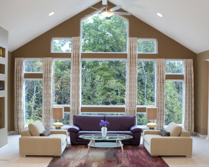 wanddesign wandgestaltung wandfarbe farbgestaltung wohnzimmer ...