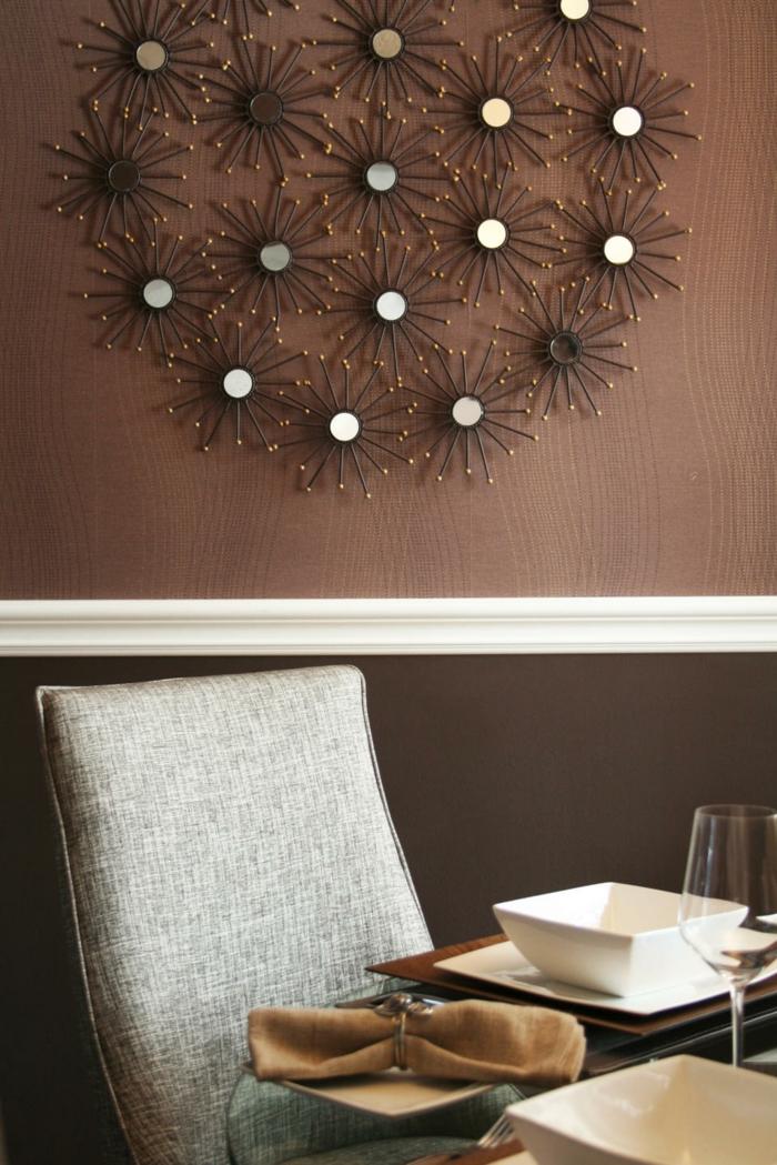 60 berzeugende beispiele f r wanddesign in braun for Wanddesign wohnzimmer