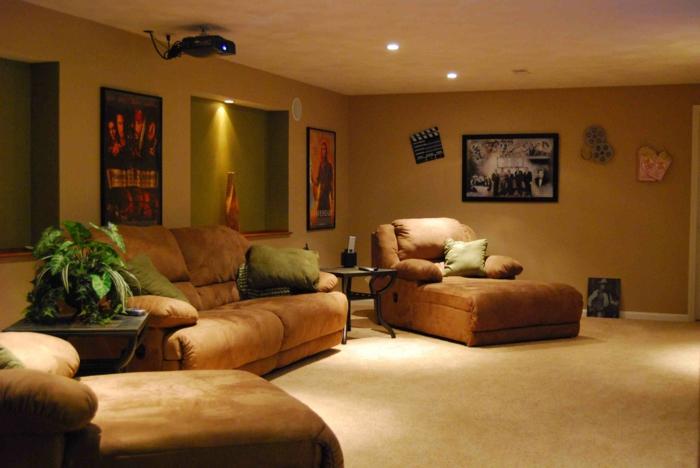 wanddesign wandgestaltung wandfarbe farbgestaltung wohnzimmer karamel ganz - Wanddesign Wohnzimmer