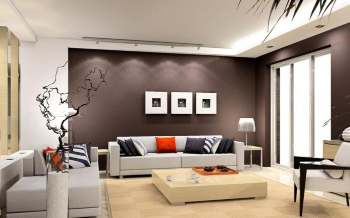 wanddesign wandgestaltung wandfarbe farbgestaltung wohnzimmer kleks rot