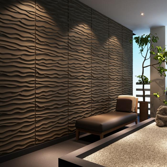 60 berzeugende beispiele f r wanddesign in braun - Wanddesign ...