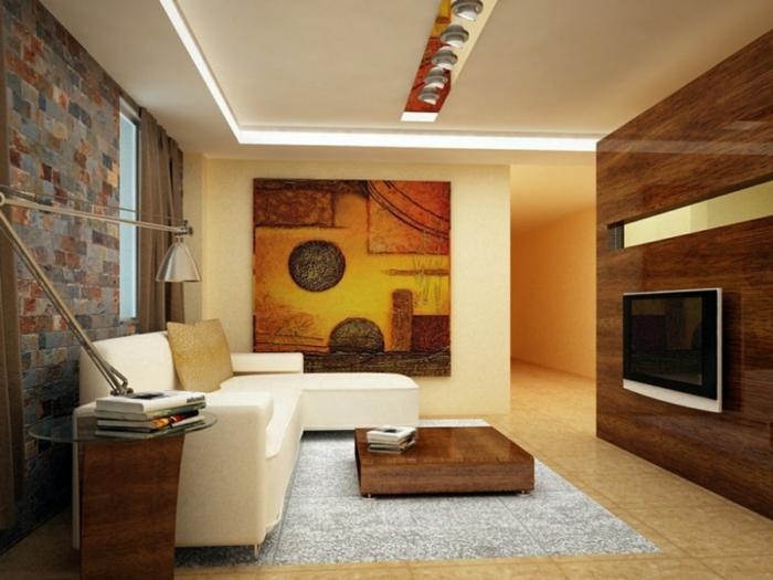 wanddesign wandgestaltung wandfarbe farbgestaltung wohnzimmer stilmix