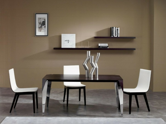 60 berzeugende beispiele f r wanddesign in braun. Black Bedroom Furniture Sets. Home Design Ideas