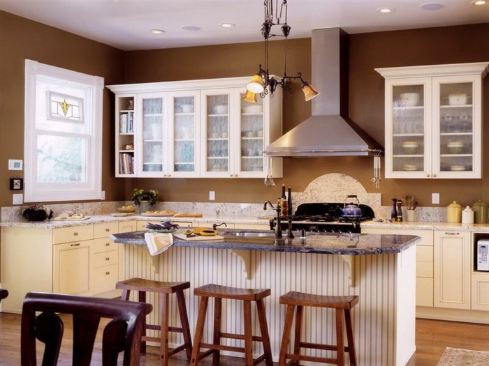 Wandfarbe Sandtne Fotos : Wandfarbe braun kuche alle ideen für ihr haus design und möbel