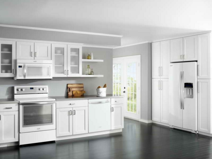 Küche Weiss Wandfarbe