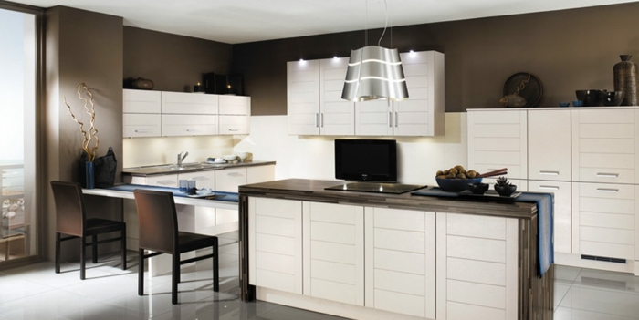 Wandfarbe Küche auswählen - 70 Ideen, wie Sie eine wohnliche Küche gestalten