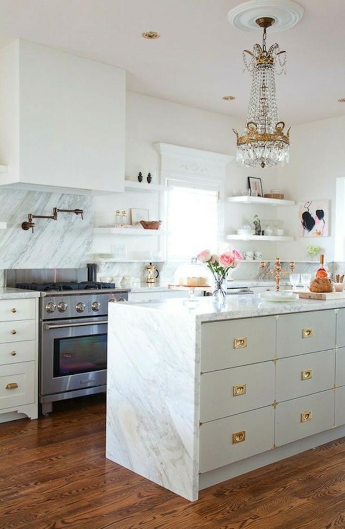 wände streichen ideen küche wandgestaltung ideen weiße kücheninsel offene wandregale