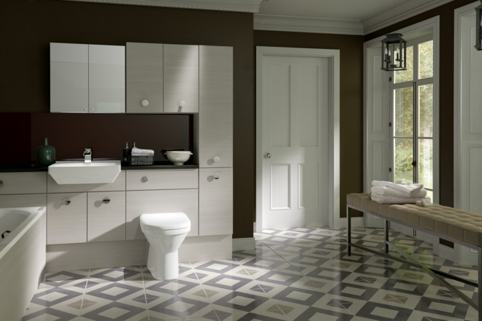 wanfarben ideen badezimmer wandgestaltung ideen dunkelbraune wände