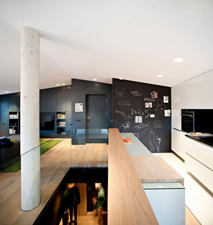 wanfarben ideen dunkle wandgestaltung wohnideen küche