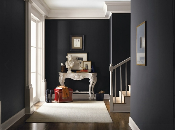 w nde streichen ideen in dunklen schattierungen. Black Bedroom Furniture Sets. Home Design Ideas