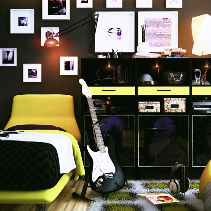 Wanfarben Ideen Jugendzimmer Gestalten Krasse Akzente Teppich
