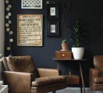 70 Wände streichen Ideen in dunklen Schattierungen