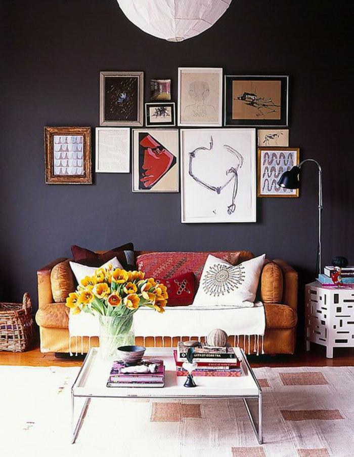 wanfarben ideen wohnideen wohnzimmer graue wände wanddeko