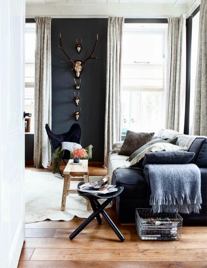 wanfarben ideen wohnideen wohnzimmer wanddeko holzboden