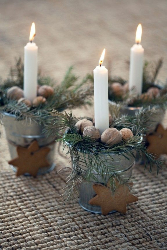 Weihnachtliche tischdeko selbst gemacht 55 festliche Dekoration weihnachtstischdeko