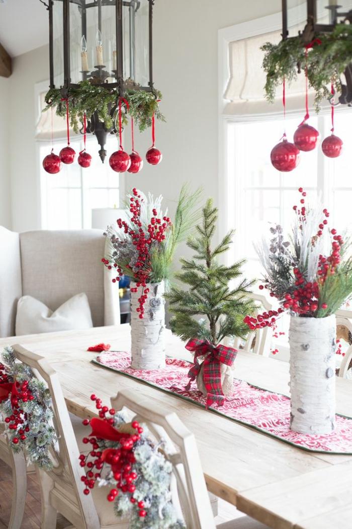 Weihnachtliche Tischdekoration weihnachtliche tischdeko selbst gemacht 55 festliche tischdekoration ideen