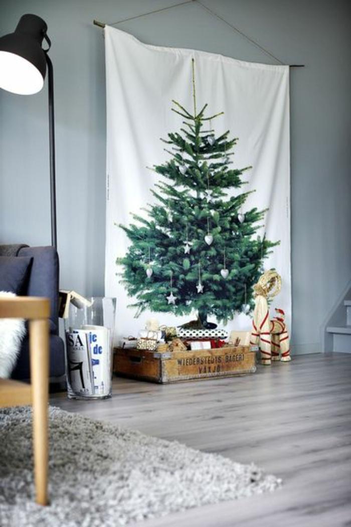 weihnachtsbaum künstlich künstlicher weihnachtsbaum test durch wand leinwand