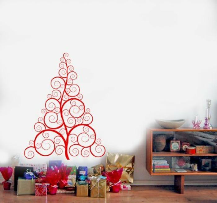 weihnachtsbaum künstlich künstlicher weihnachtsbaum test durch wand ornamenierung