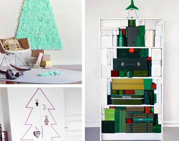weihnachtsbaum künstlich künstlicher weihnachtsbaum test durch wand schuhkartons