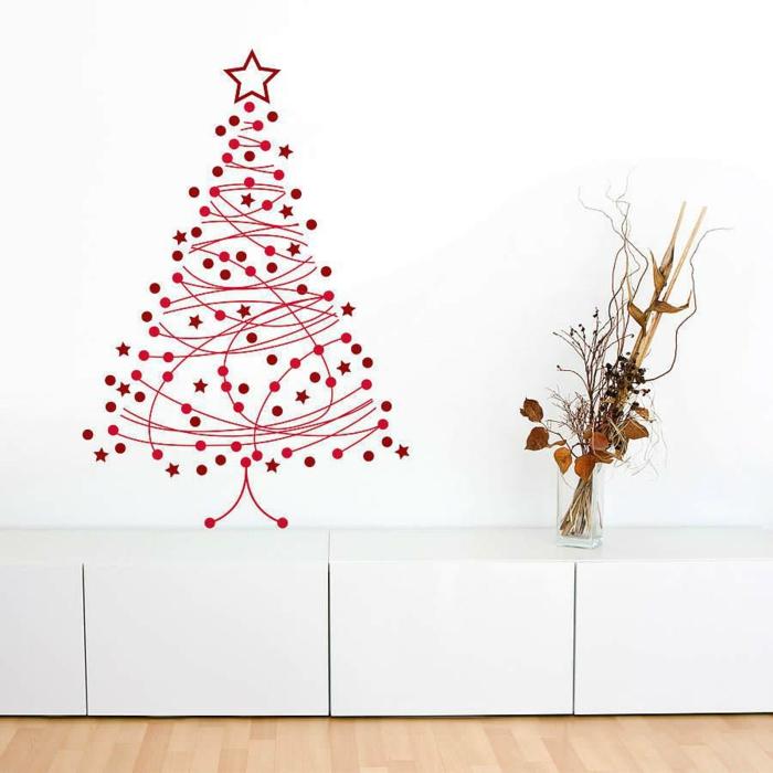 weihnachtsbaum künstlich künstlicher weihnachtsbaum test durch wand wandsticker filigran