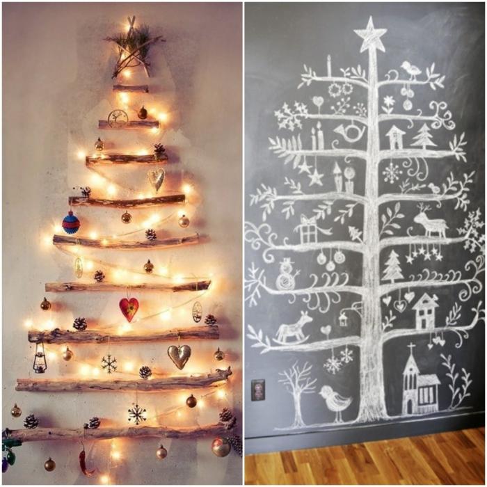 weihnachtsbaum künstlich künstlicher weihnachtsbaum test durch wand wandsticker malerei