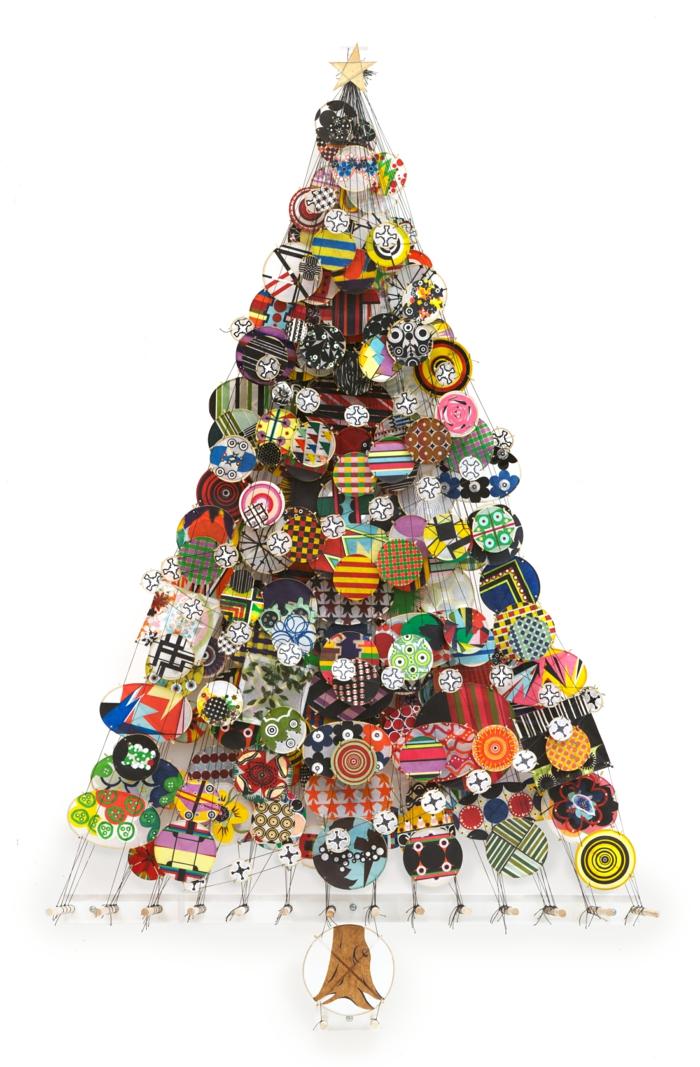weihnachtsbaum künstlich künstlicher weihnachtsbaum test durch wand wandsticker patchwork