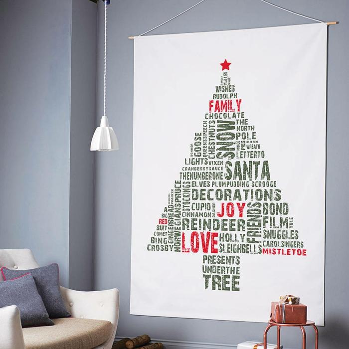 weihnachtsbaum künstlich künstlicher weihnachtsbaum test durch wand textil druck