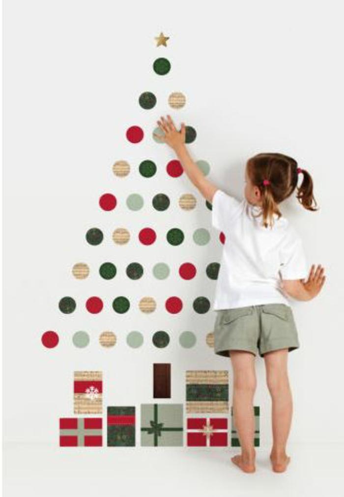 weihnachtsbaum künstlich künstlicher weihnachtsbaum test durch wand wandsticker