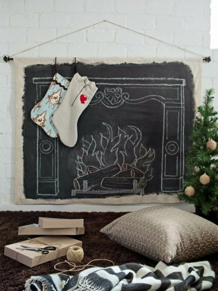Weihnachtsdeko selber machen Weihnachtskranz