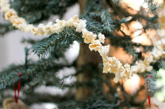 ideen diy christbaumschmuck selber machen popcorn girlande