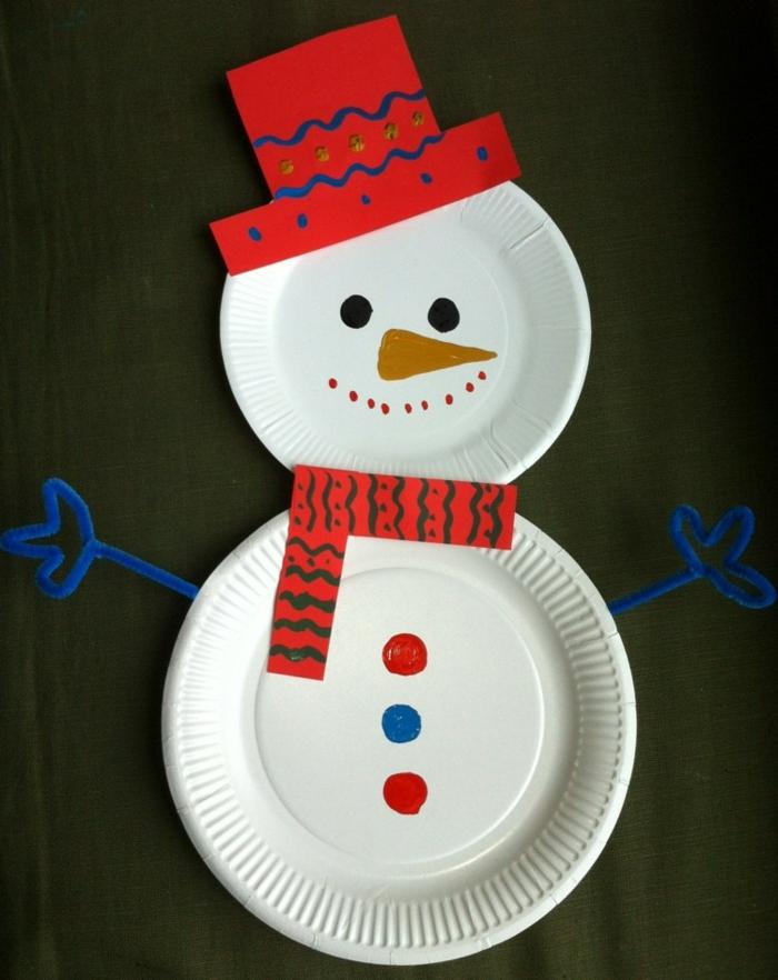 weihnachtsdeko ideen diy schneemann selber basteln