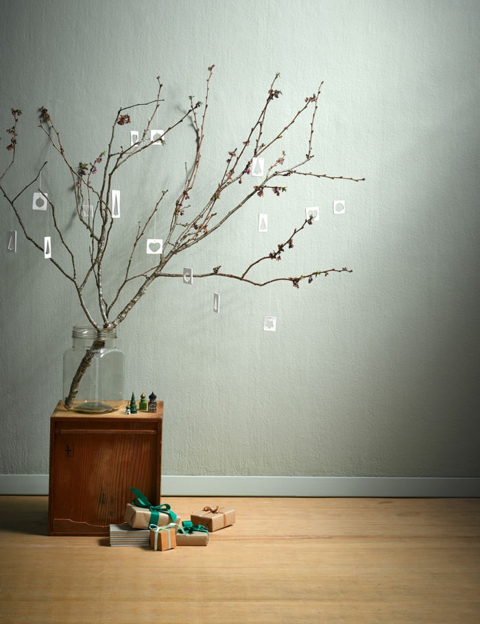 weihnachtsdeko ideen diy skandinavischer stil weihnachtsbaum weihnachtsgeschenke