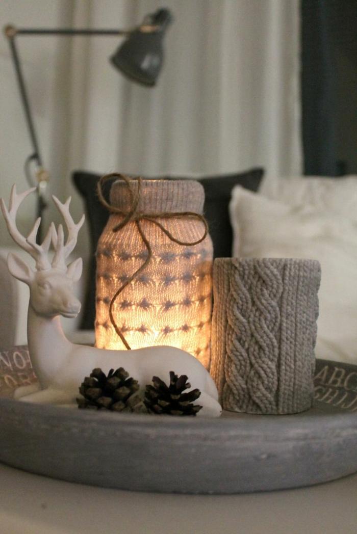 weihnachtsdeko ideen skandinavischer stil gemütlich lichter