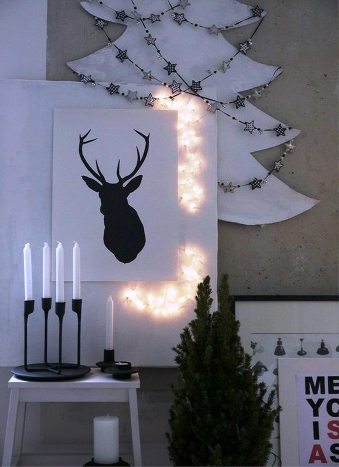 weihnachtsdeko ideen skandinavischer stil kerzen weihnachtsbaum