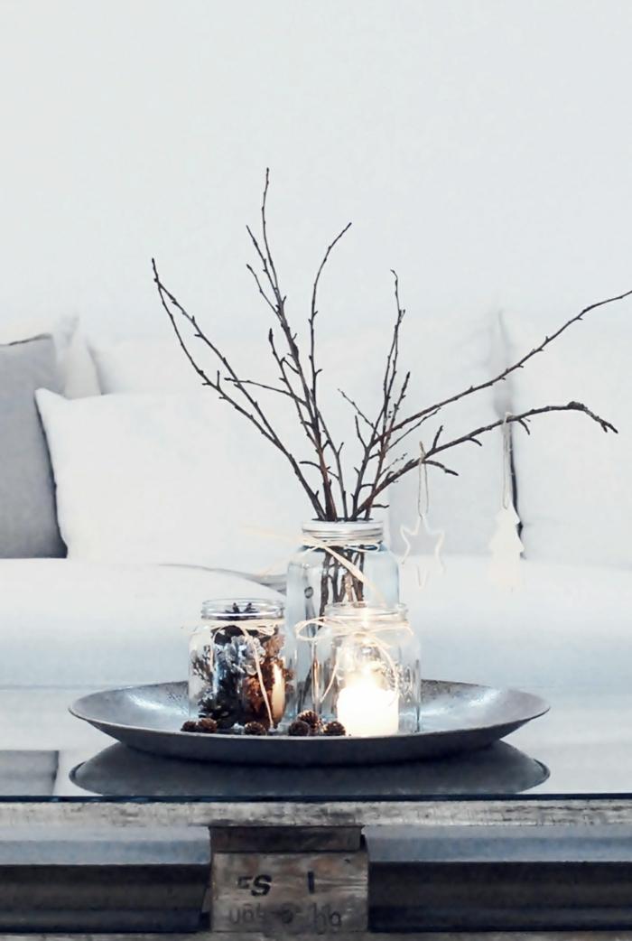 weihnachtsdeko ideen skandinavischer stil rustikal tischdeko weihnachten