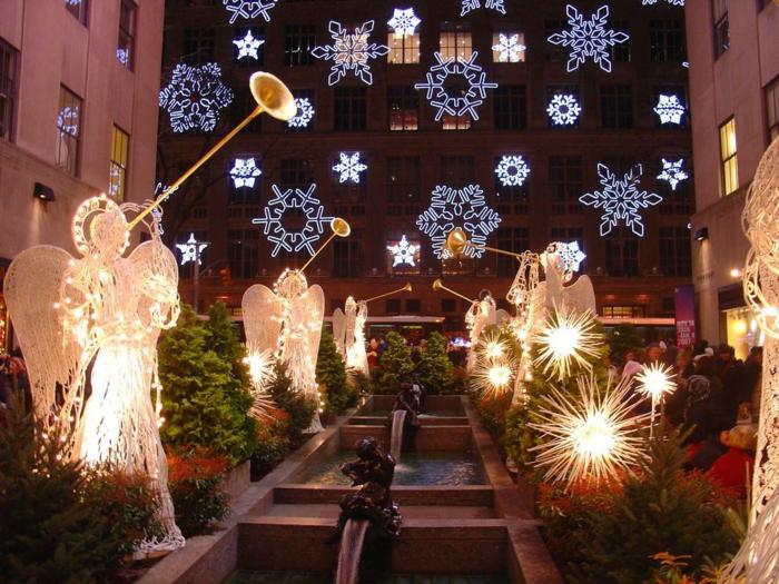 weihnachtsdekoration aussen weihnachtsschmuck engelstropmete