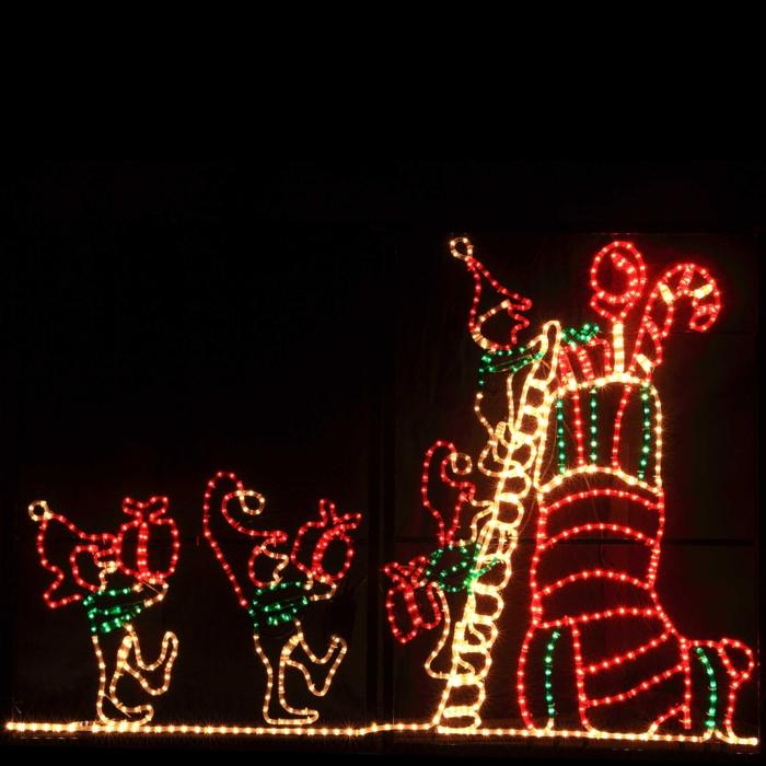 weihnachtsdekoration aussen weihnachtsschmuck lichterkette blumentoepfe lichterkette