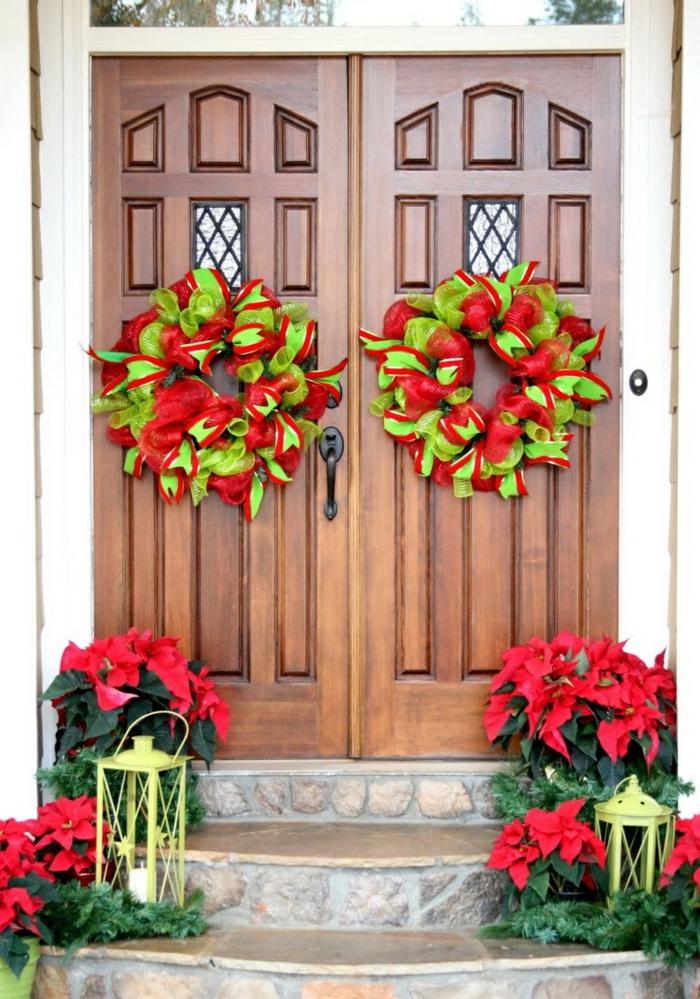 weihnachtsdekoration  weihnachtsschmuck lichterkette blumentoepfe weihnachtsstern