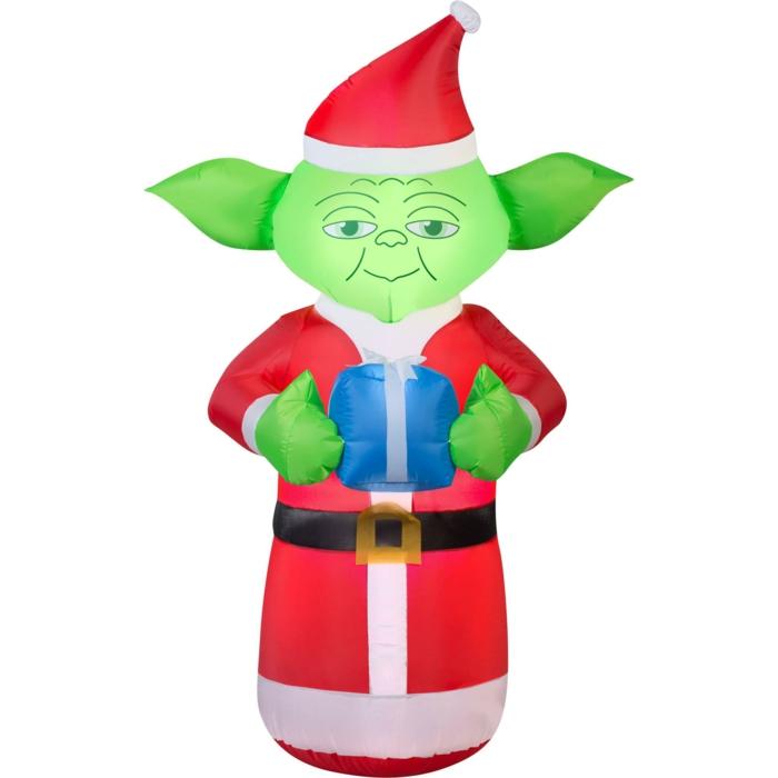 weihnachtsdekoration  weihnachtsschmuck lichterkette blumentoepfe yoda