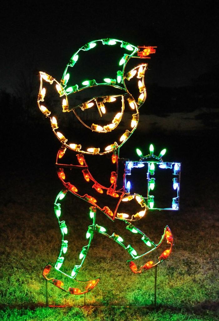 weihnachtsdekoration  weihnachtsschmuck lichterkette zwerg