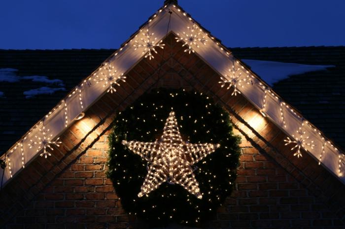 weihnachtsdekoration aussen weihnachtsschmuck stern