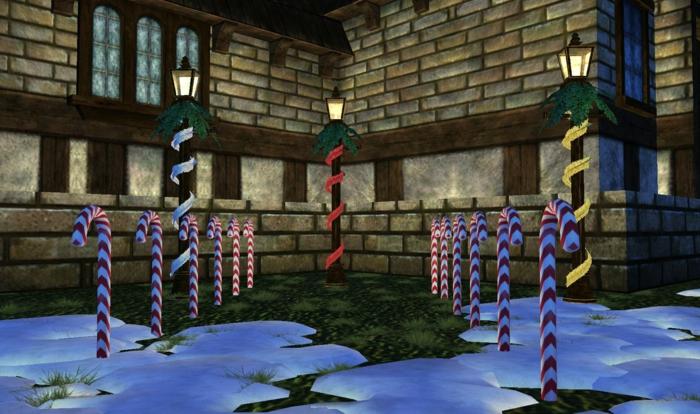 weihnachtsdekoration weihnachtsschmuck zuckerstange  überdemansioniert