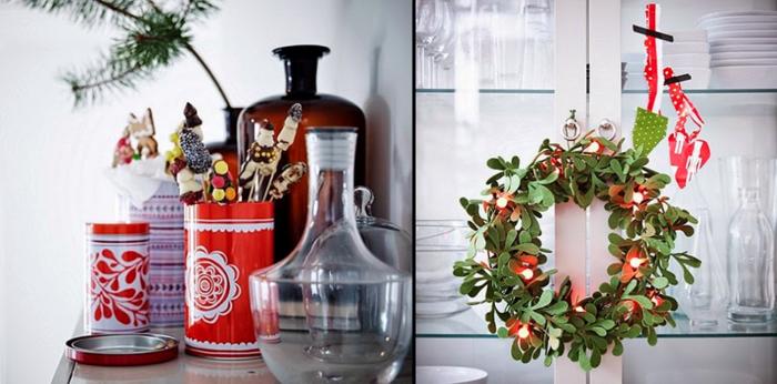 weihnachtsdekoration ideen diy weihnachtskranz süßigkeiten selber machen