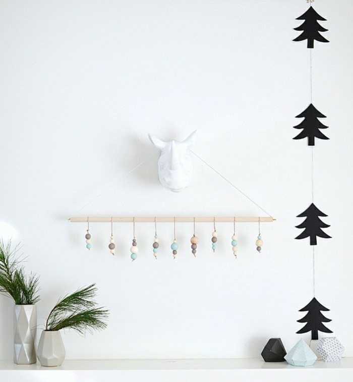 weihnachtsdekoration ideen minimalistische deko wanddekoration wandgestaltung