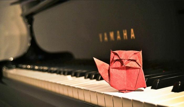 weihnachtsbasteln bastelideen eule klavier