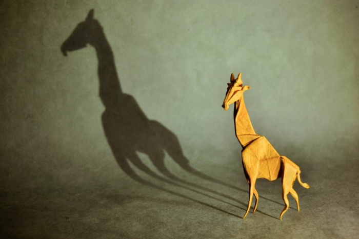 weihnachtsbasteln bastelideen giraffe