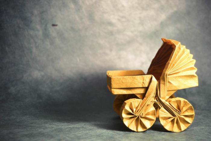weihnachtsbasteln bastelideen kinderwagen